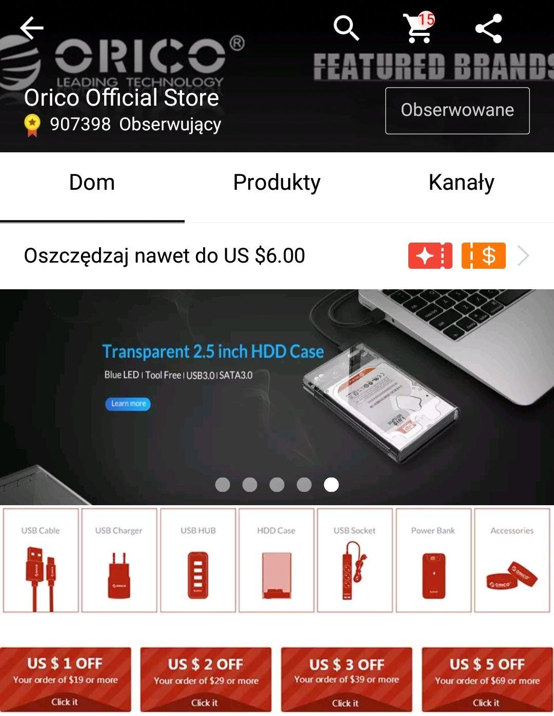 Kupon 25$ na wybrane produkty w sklepie Orico@AliExpress przy MWZ 40$