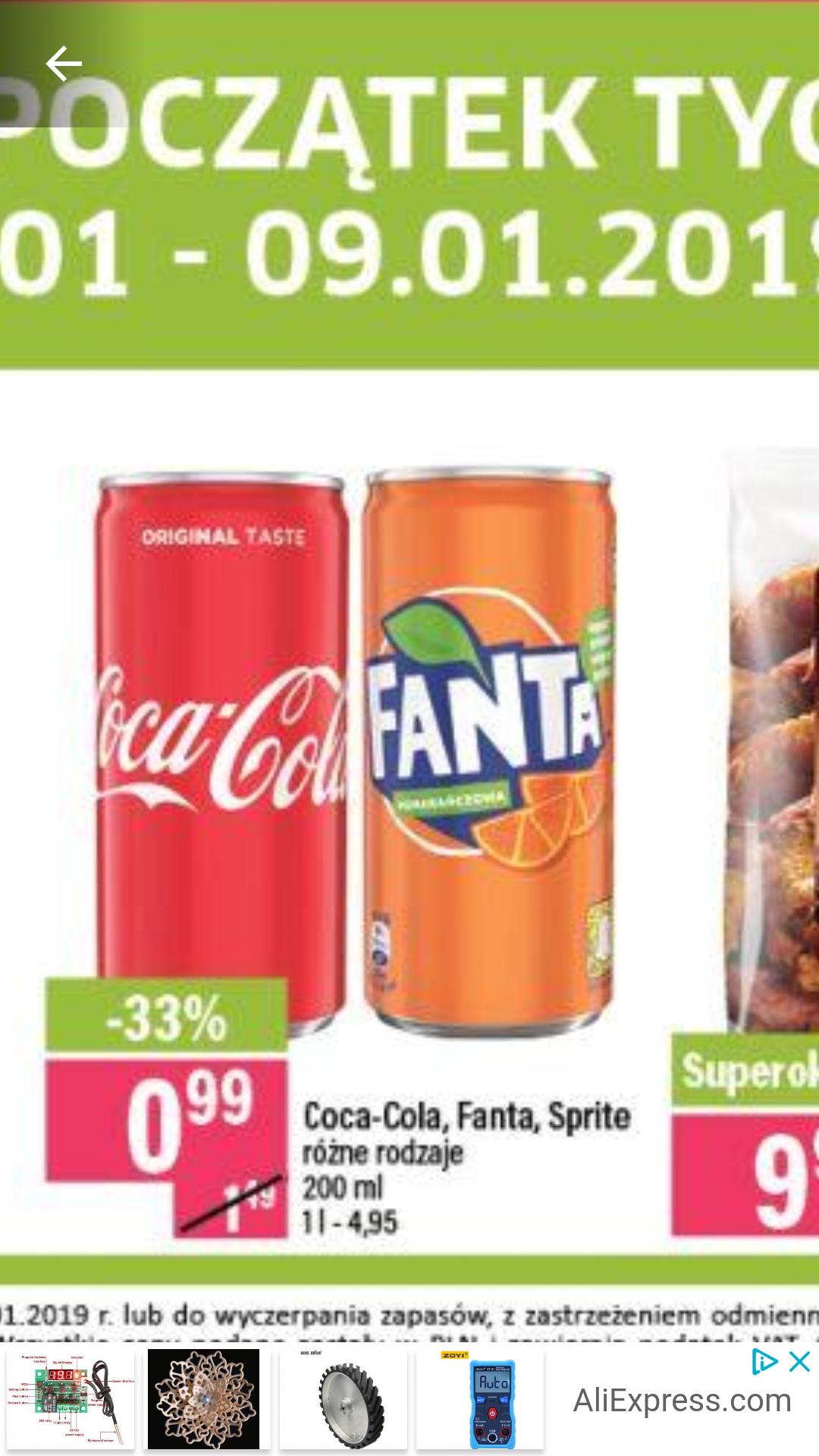 Coca cola Fanta Sprite 99gr. Market MILA