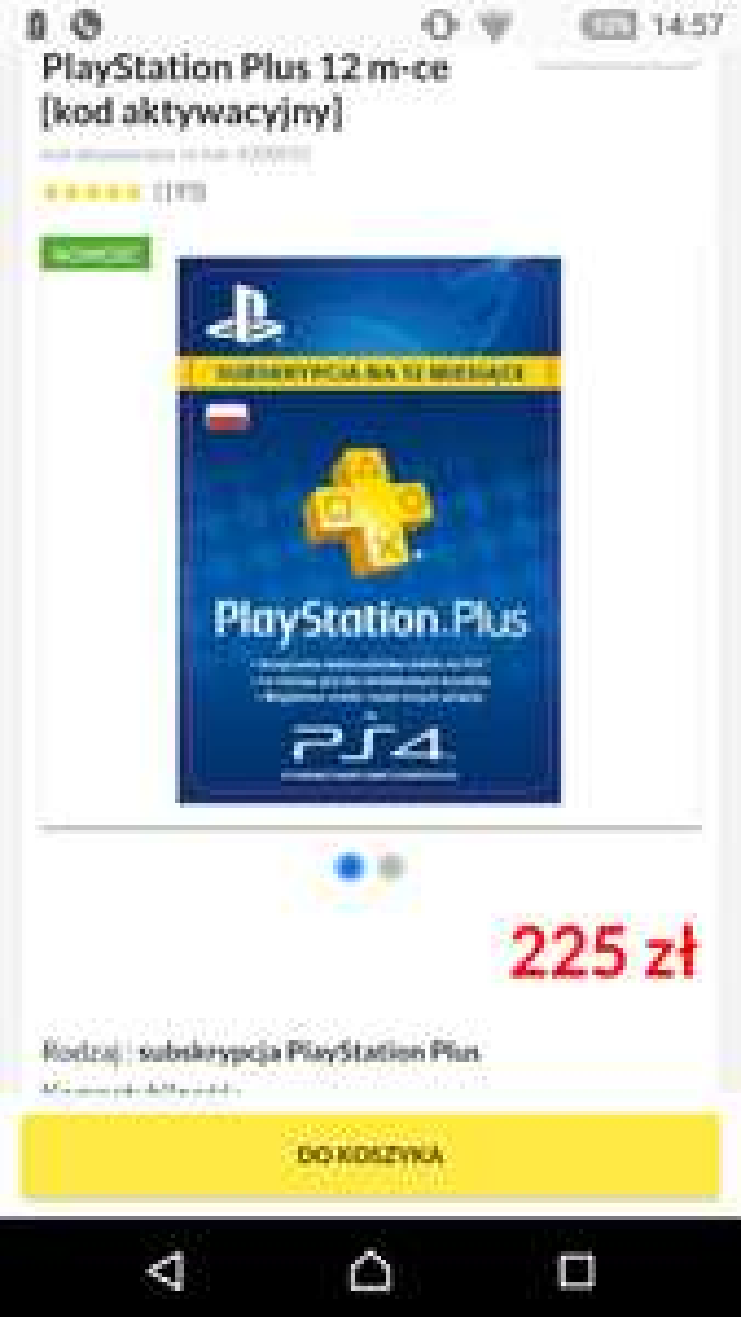 Play Station plus Rtv Euro Agd 225 zł