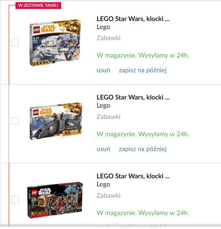 Zestaw Lego Star Wars 75219 75217 75180