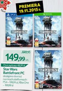 Star Wars Battlefront [Playstation 4, Xbox One, PC] najtaniej w dniu premiery! @ Tesco