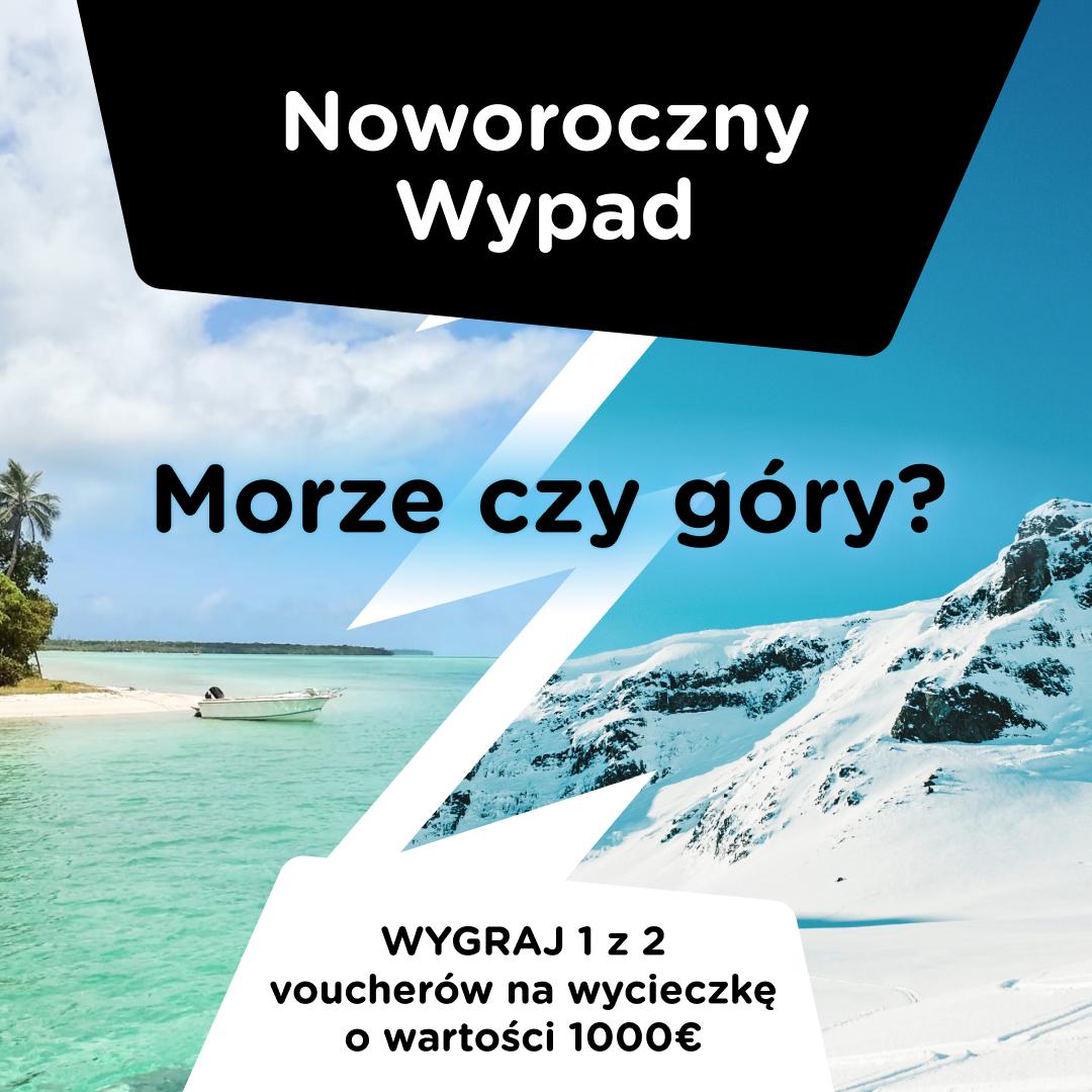 Noworoczny Wypad -> wygraj 1 z 2 voucherów na wycieczkę o wartości 1000€ <-