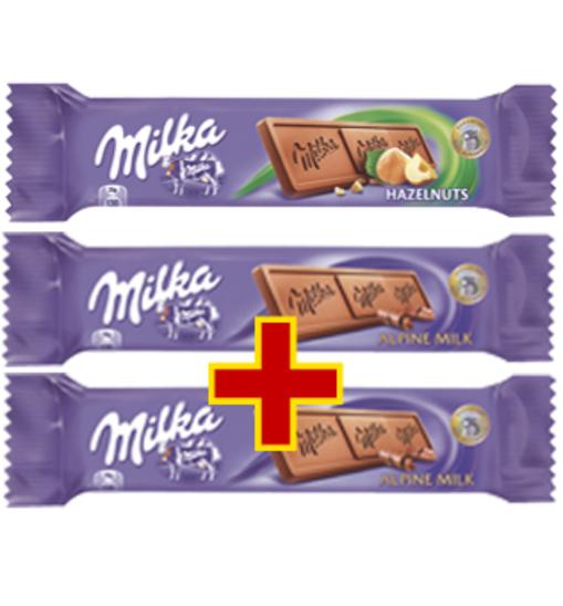 Trzy czekoady Milka za 1,98 zł @ Intermarche