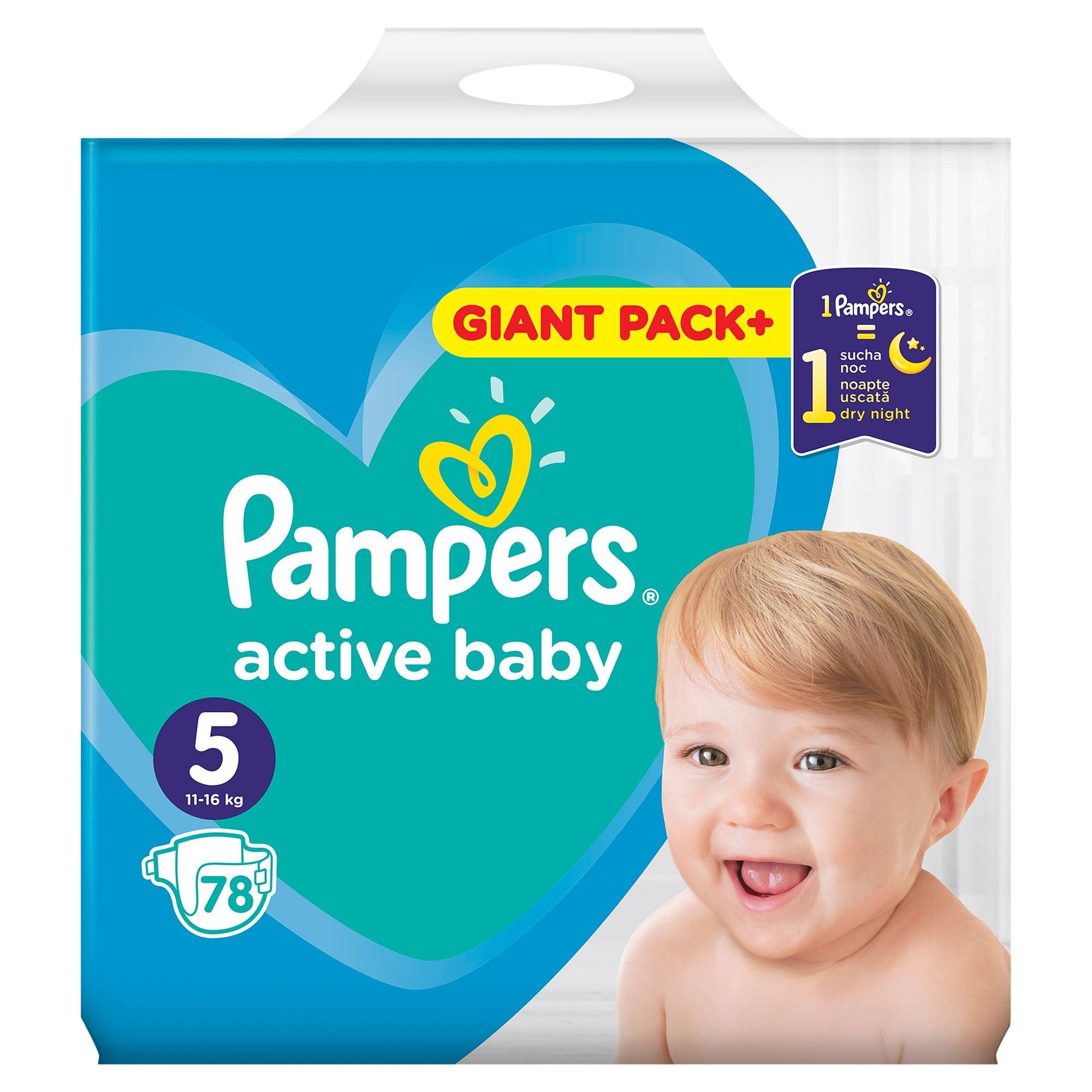 Pampers active baby giant pack rozm. 2,3,4,5 Biedronka 39,99zł lub starsza wersja (zielona paczka) 34,99zł