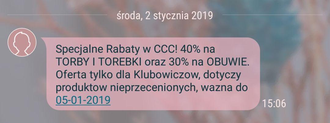 30% na buty w CCC