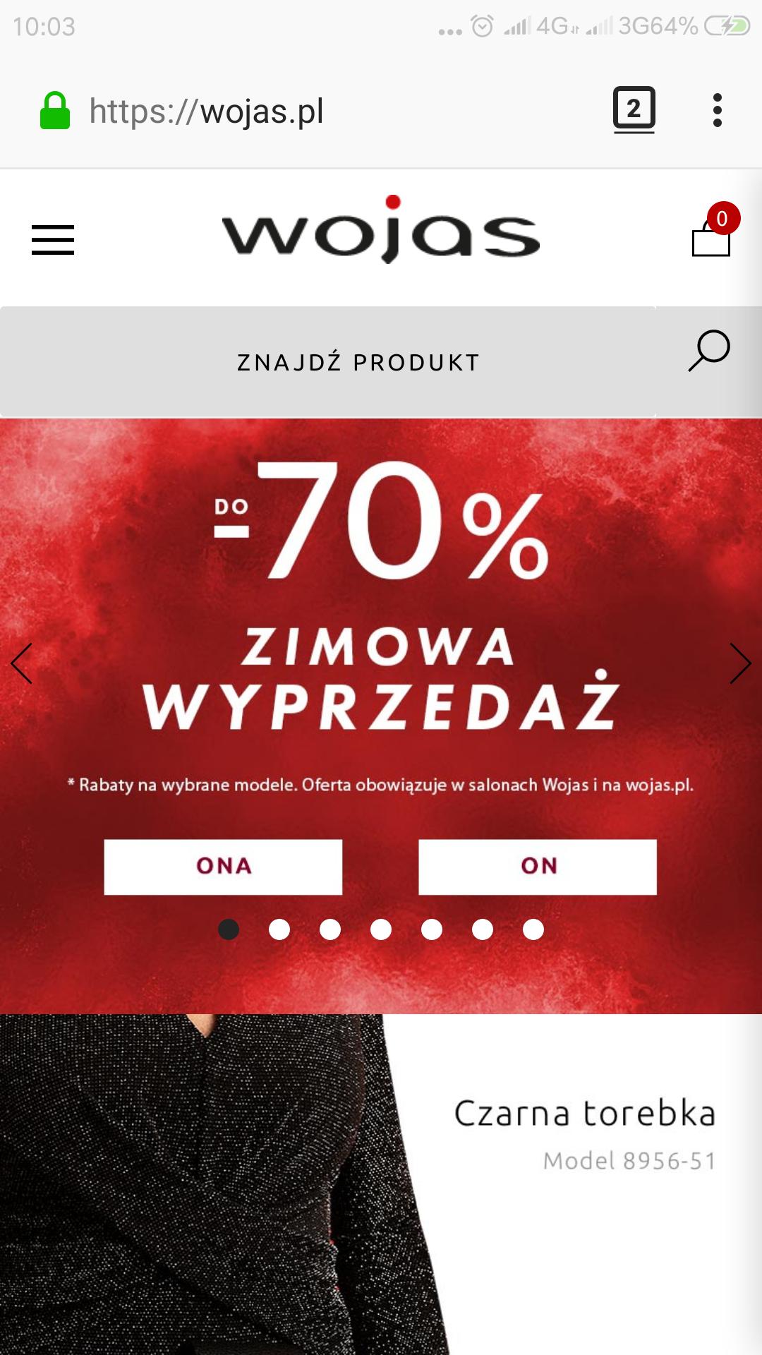 Rabaty nawet do 70% wojas.pl.