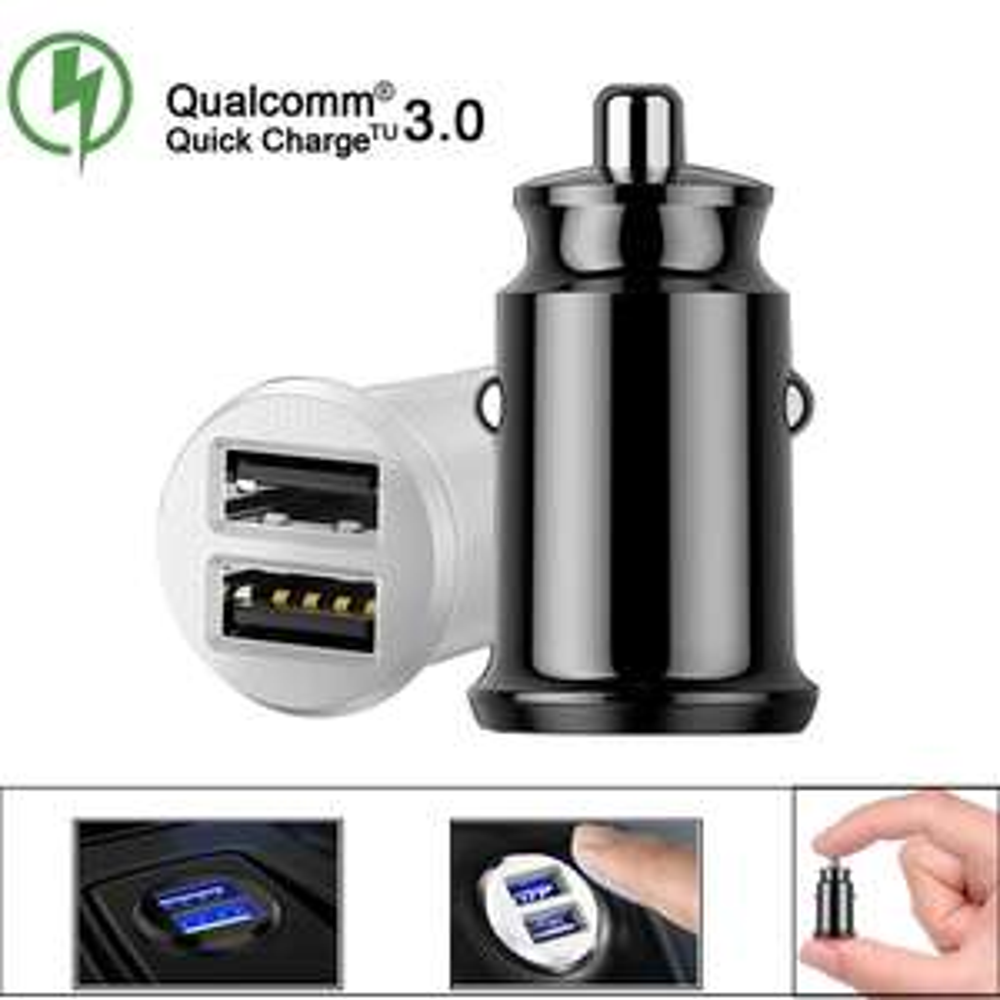 Samochodowa ładowarka 2xUSB : Smartfon Tablet Nawigacja GPS/  Qualcomm 3.0