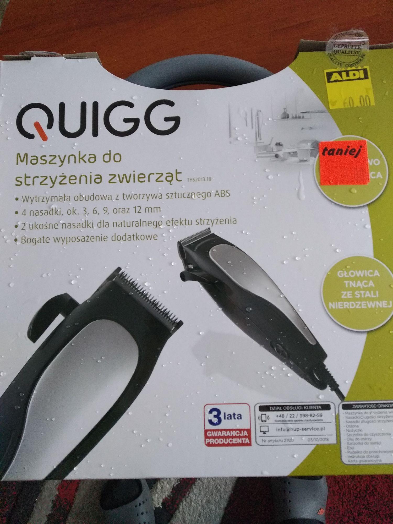 Maszynka do strzyżenia zwierząt Quigg w Aldi