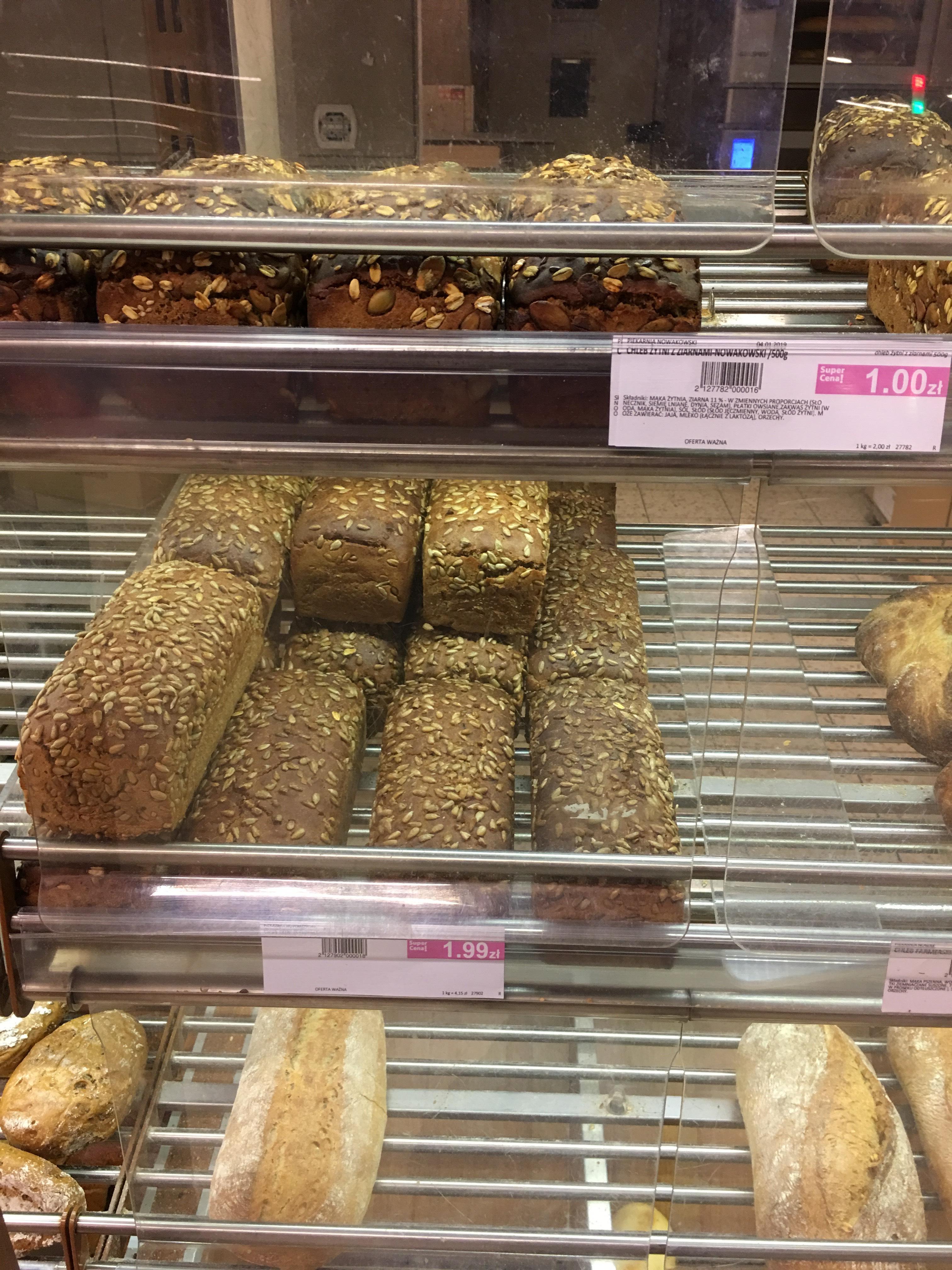 Chleb żytni z ziarnami PiP Poznan Promienista