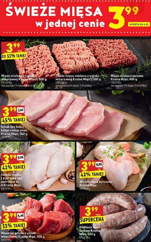 Świeże mięsa w jednej cenie 3,99zł @ Biedronka