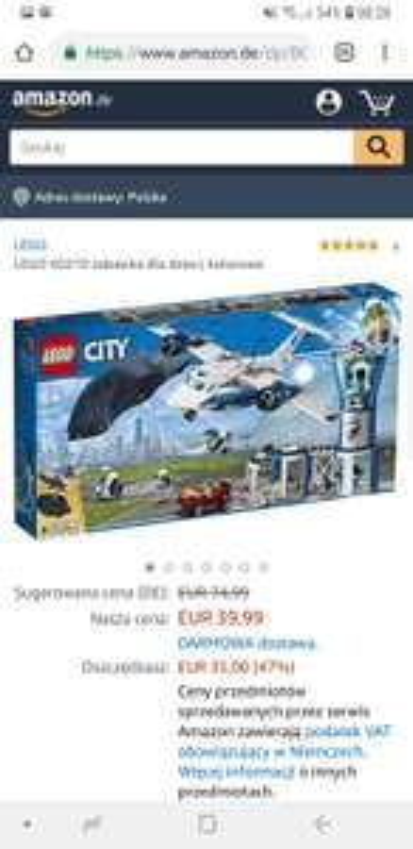 Klocki LEGO 60210  - Baza policji