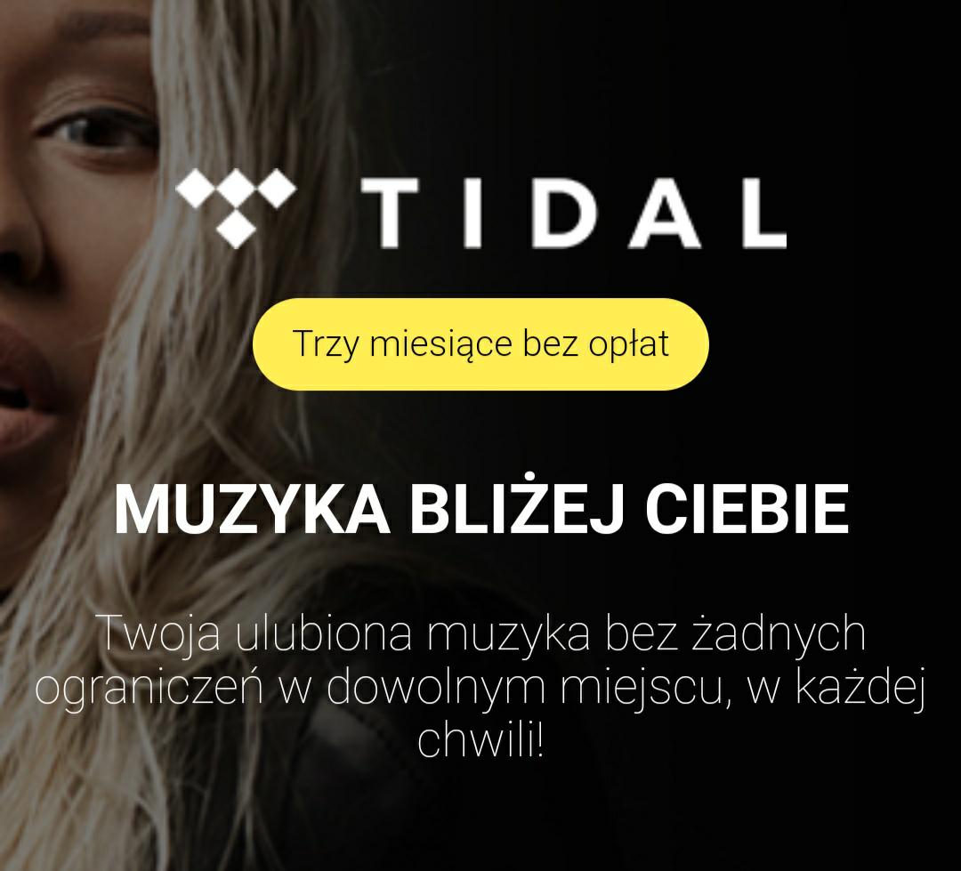 Nawet 3 miesiące Tidal Premium za darmo dla klientów Play