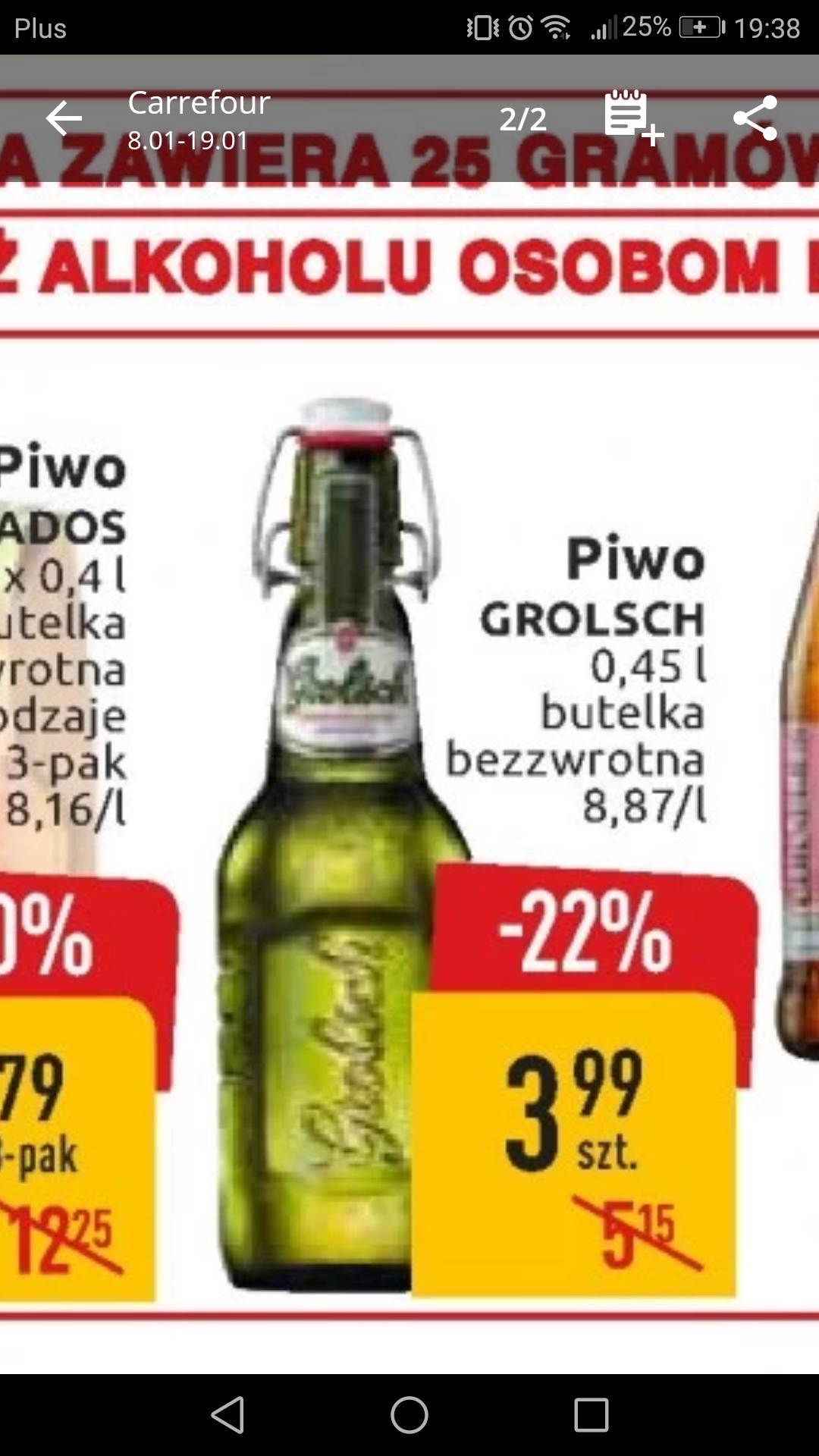 Grolsch Holenderskie piwo premium Carrefour