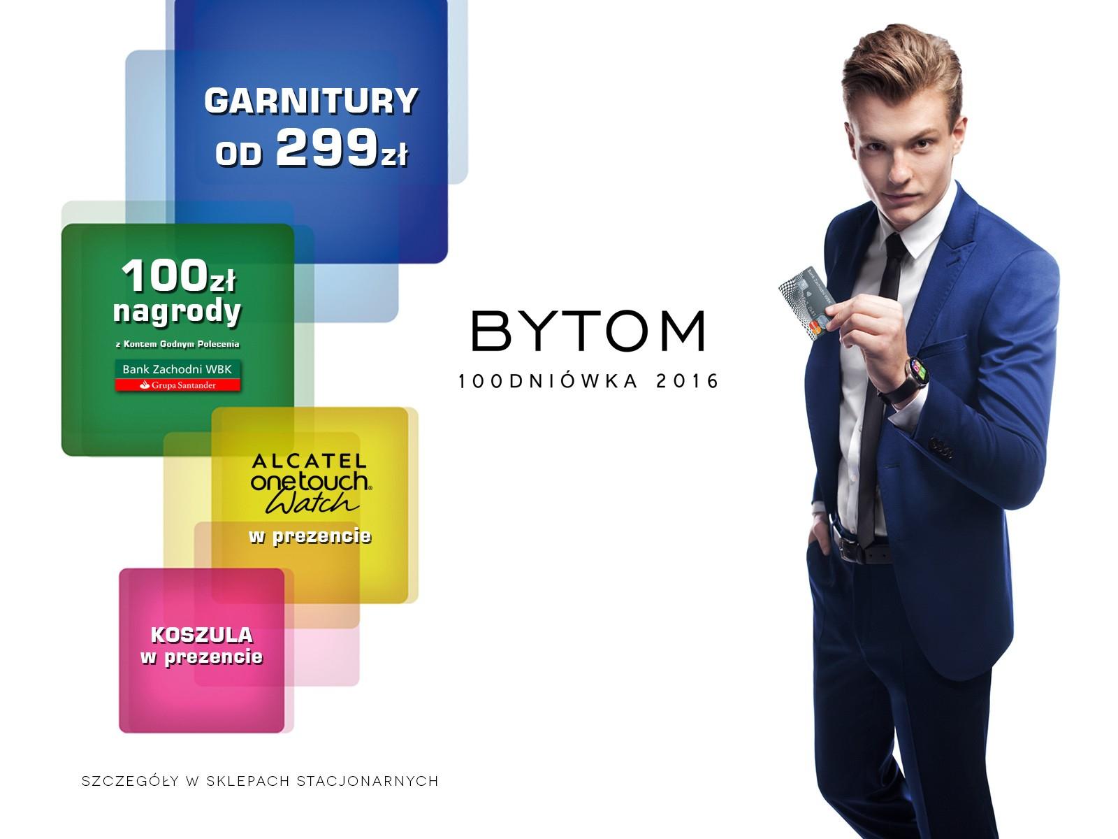 Za zakup garnituru prezenty: 100zł nagrody na Konto Godne Polecenia w BZWBK, smartwatch, koszulę oraz krawat @ Bytom