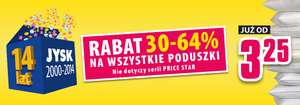 Rabat do 64% na poduszki @ Jysk
