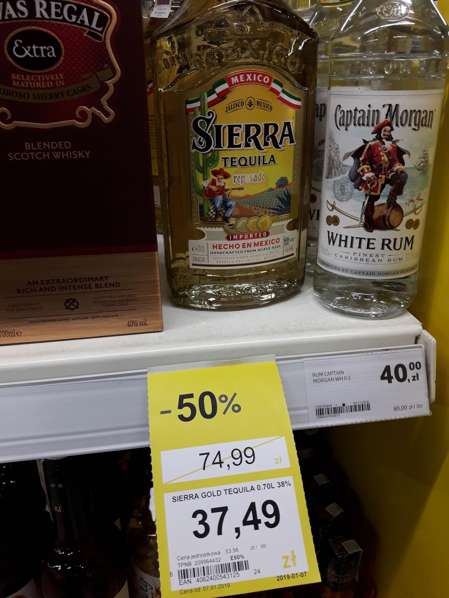 Tequila Sierra Gold 0.7 - 37.49 zl