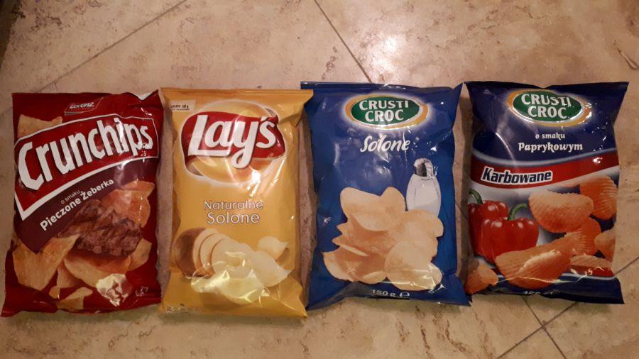 LIDL | CHIPSY | Lays 2,79 | Crunchips 2,99 | CrustiCroc 1,69 | 140/150G
