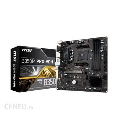 Tania płyta główna pod AMD Ryzen MSI B350M PRO-VDH