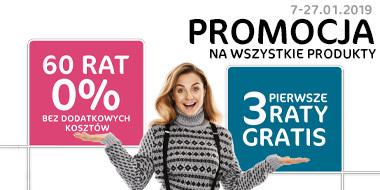 60 rat 0% + trzy pierwsze raty gratis (na wszystkie produkty) @ Agata Meble