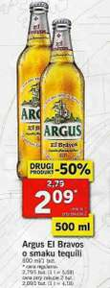 2x piwo Argus El Bravos (2,09 zł za 1) @ Lidl
