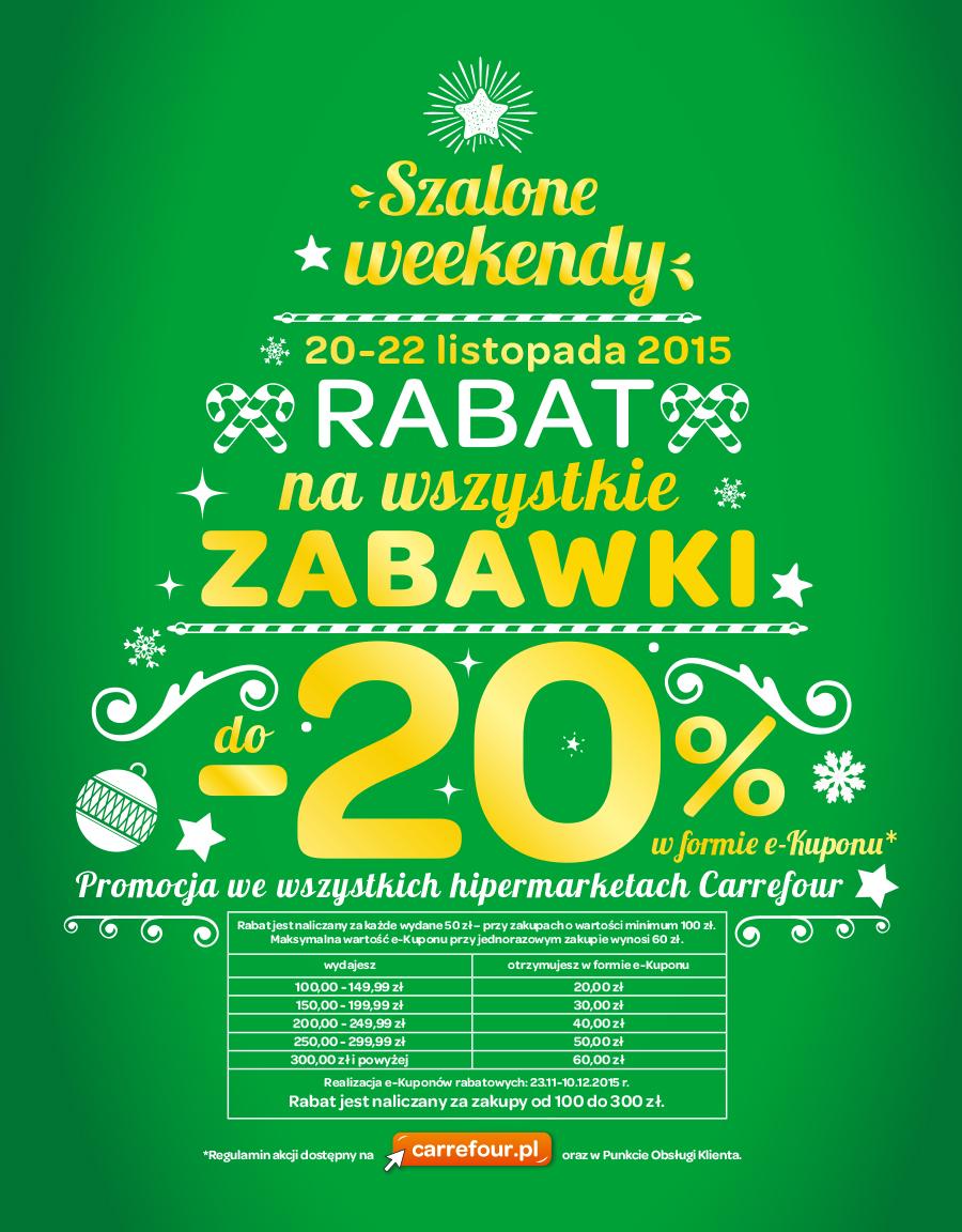 Do -20% na wszystkie zabawki (e-bon) @ Carrefour
