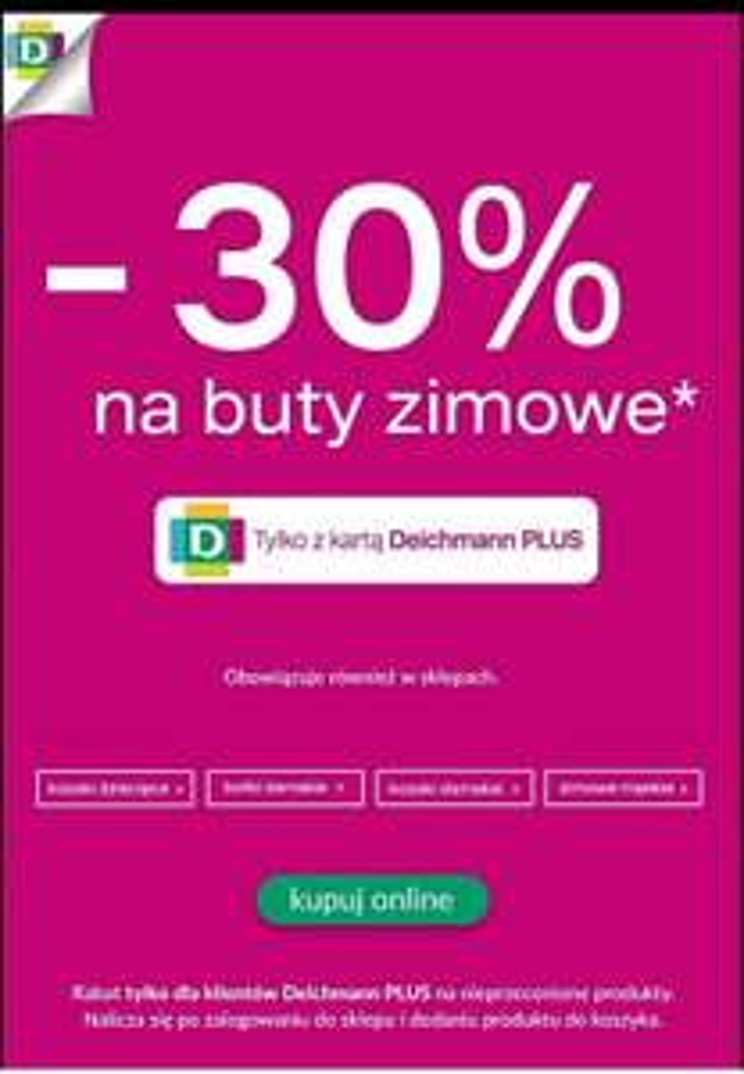-30% na obuwie zimowe w Deichmann