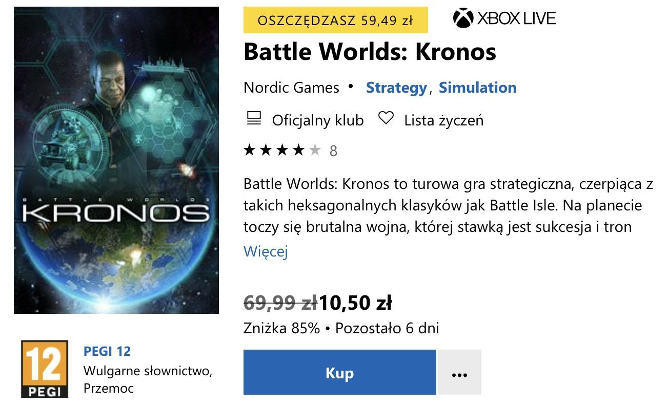 Battle worlds: Kronos na Xbox One w sklepie Microsoft