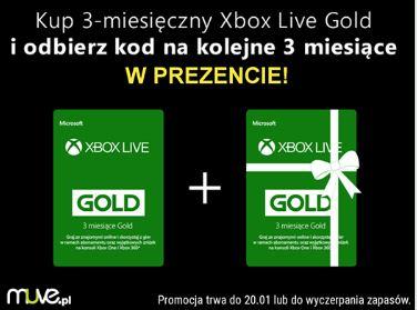 Xbox Live Gold 3 miesiące + 3 miesiące GRATIS !!!!!!!!