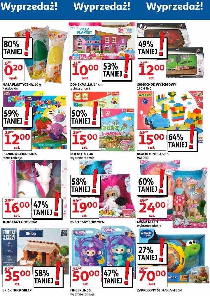 Wyprzedaż zabawek do -80% (np. VTech, klocki Wader, masa plastyczna) @ Auchan