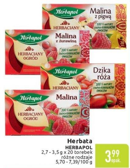 Herbaty owocowe Herbapol za 3,99zł