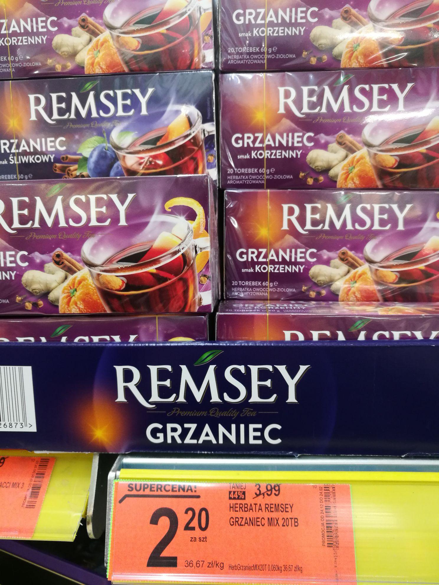 Herbata remsey grzaniec w Biedronce