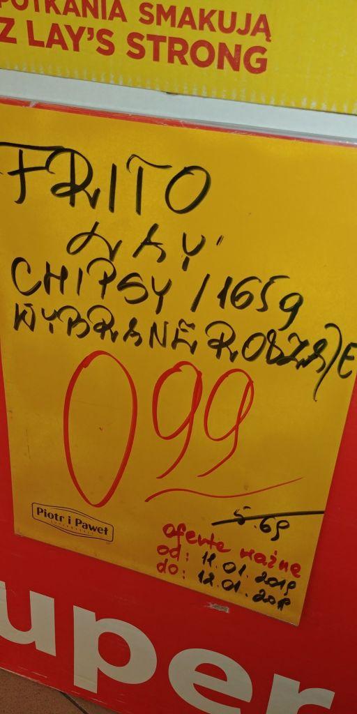 Chipsy Lays 165g tańsze niż biedronkowe ;)