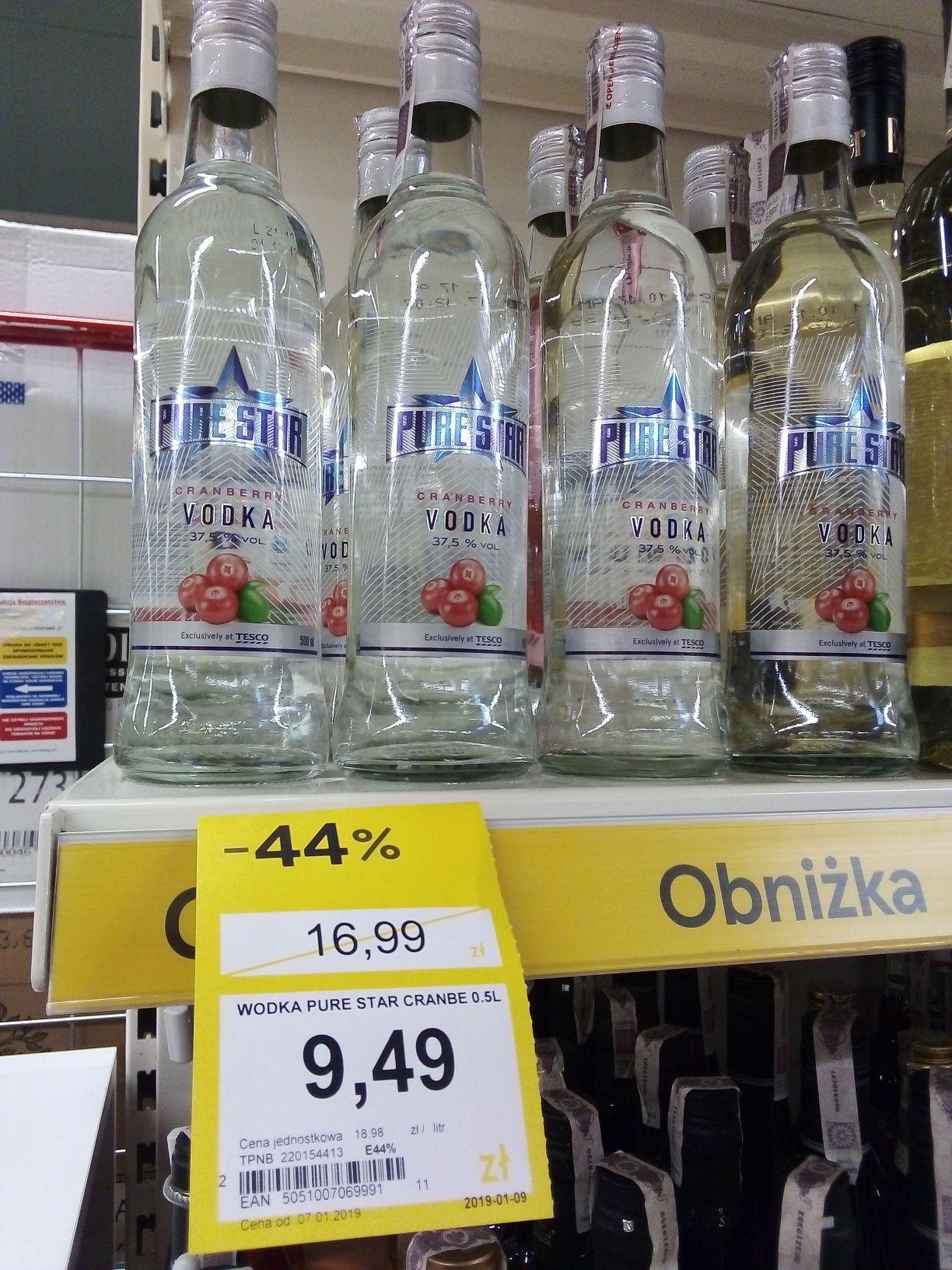 Wódka Pure Star żurawinowa 37,5 % w Tesco