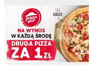 Pizza Hut druga pizza za 1zl na wynos
