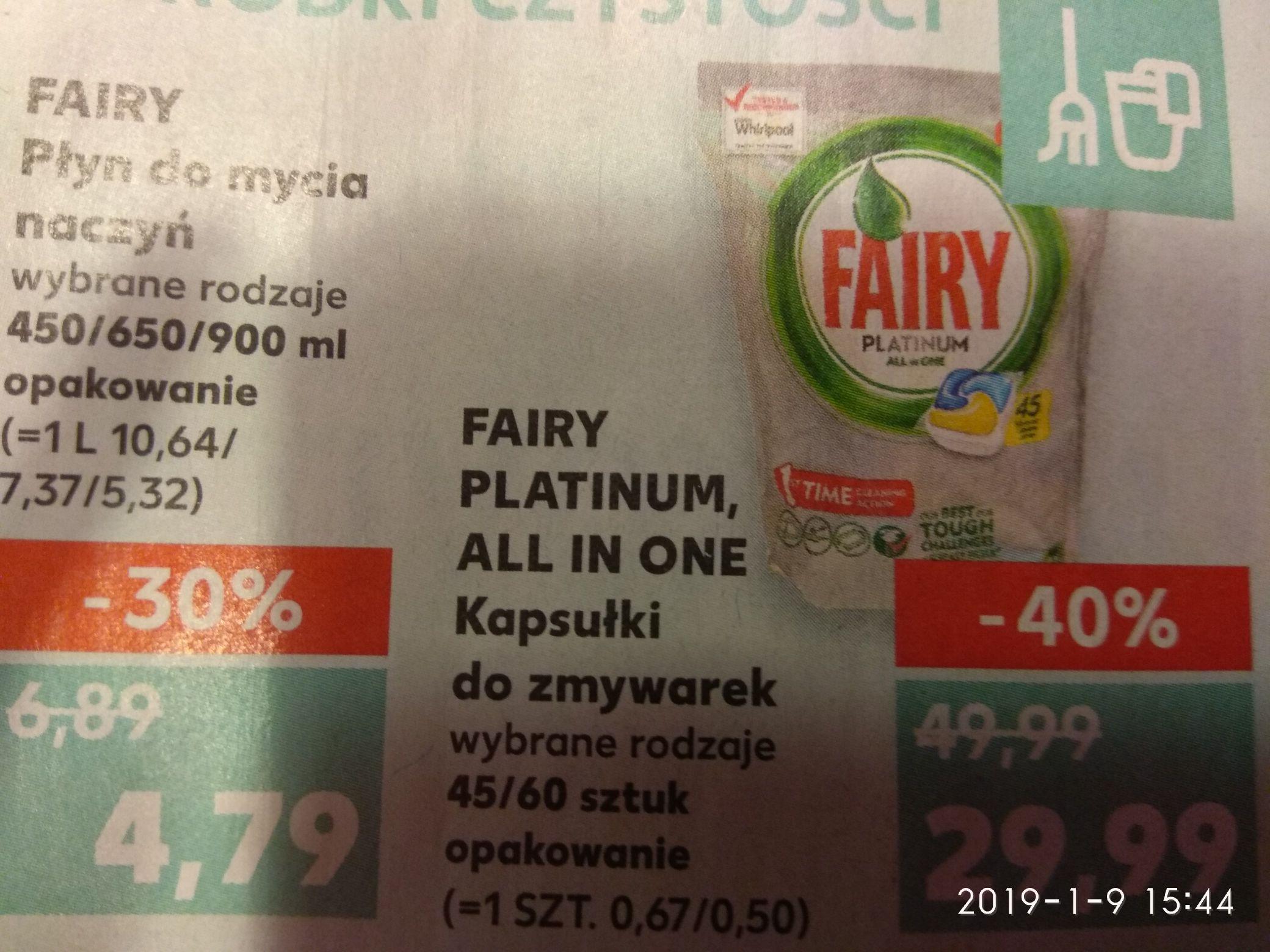 Fairy tabletki do zmywarki all in one, platinum Kaufland
