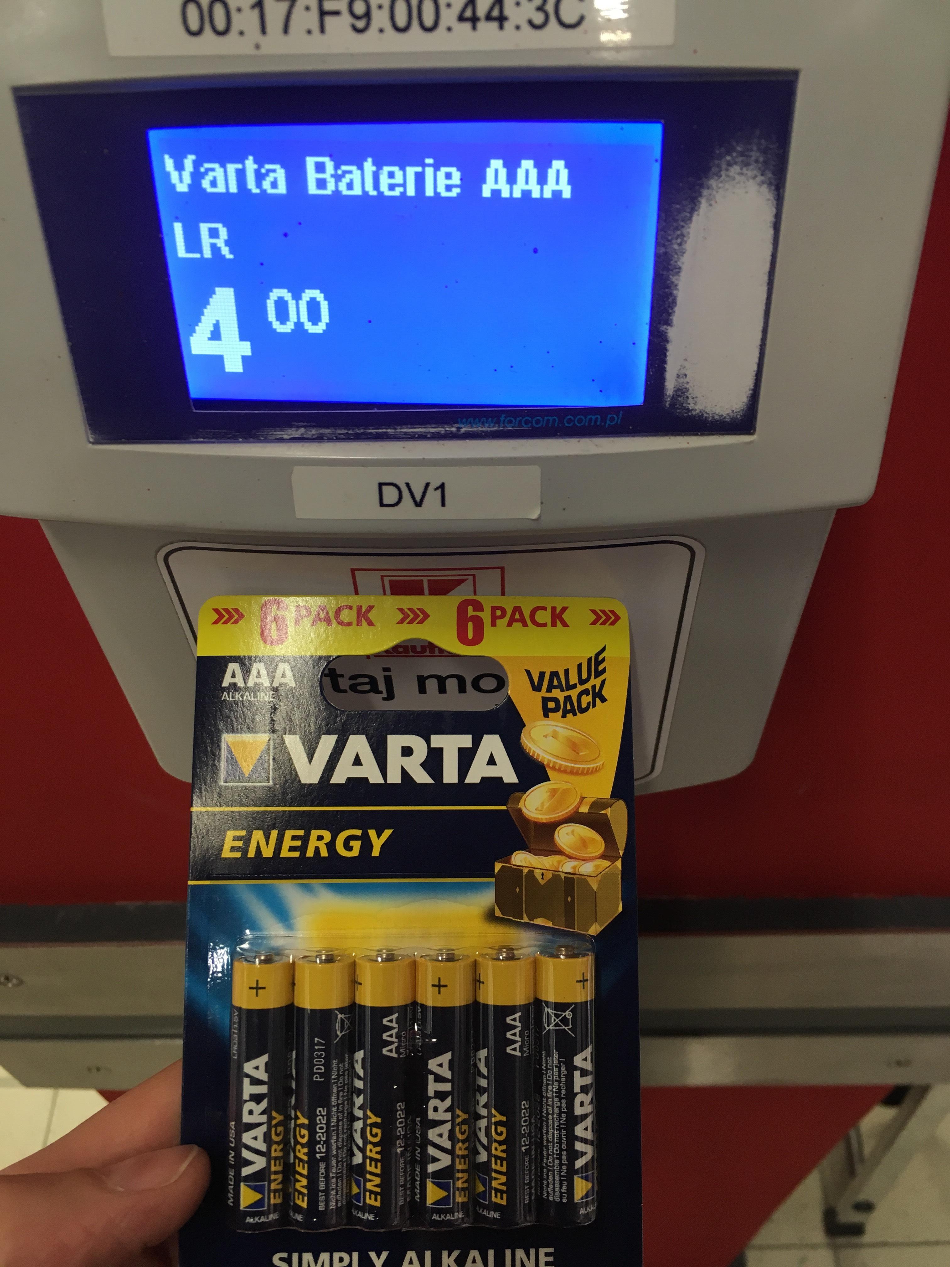Baterie AAA Varta 6 pack  Kaufland