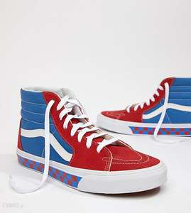 Vans Factory Pack SK8-Hi Checkerboard Sneakers In Blue