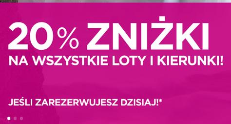 Wizz Air: loty tańsze o 20% dla wszystkich, wszystkie kierunki
