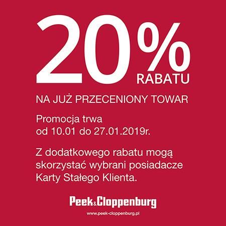 Dodatkowe 20% zniżki na przecenione ubrania (dla klubowiczów) @ Peek&Cloppenburg