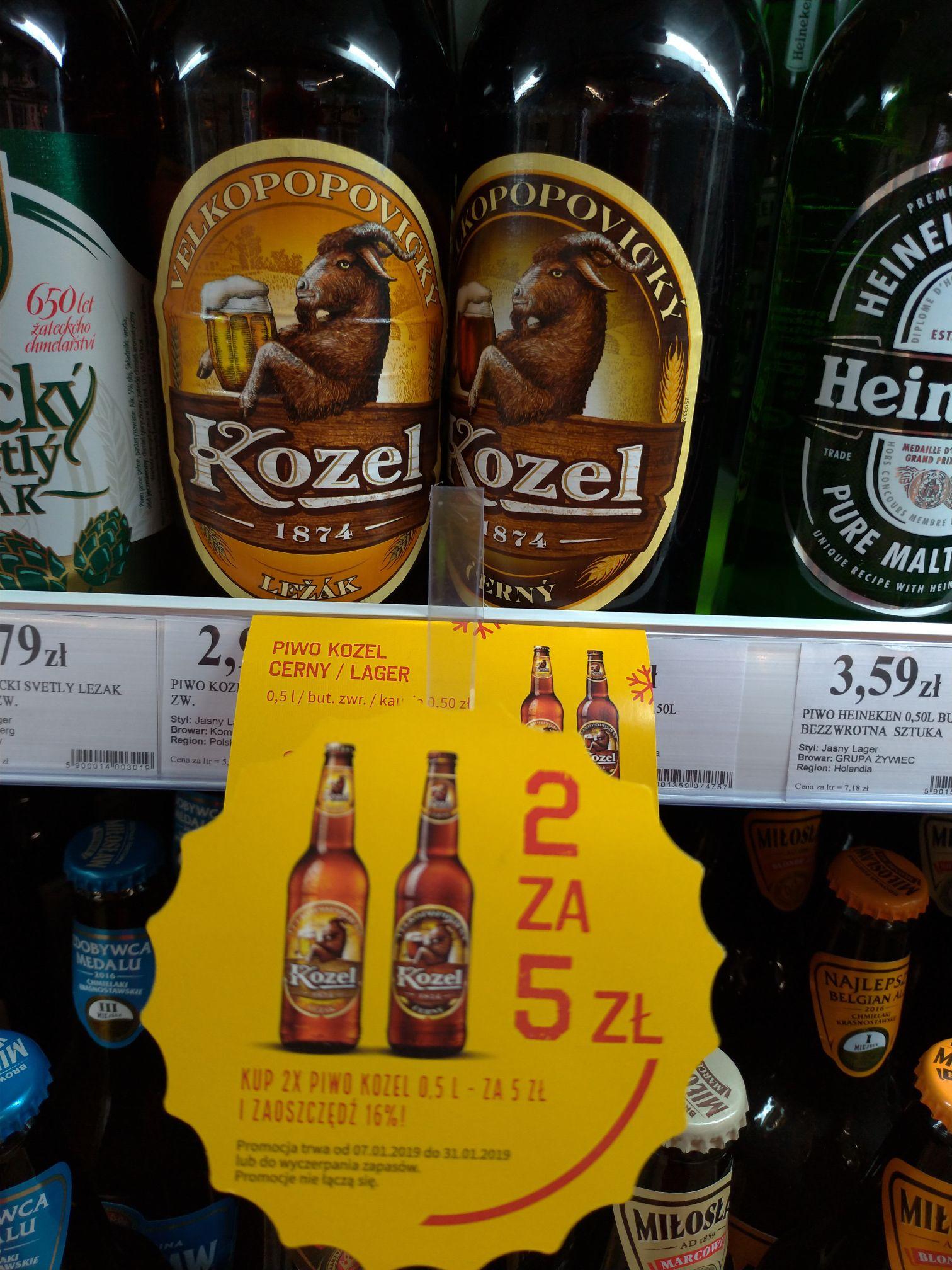 Piwo Kozel 2 za 5 zł  Duży Ben