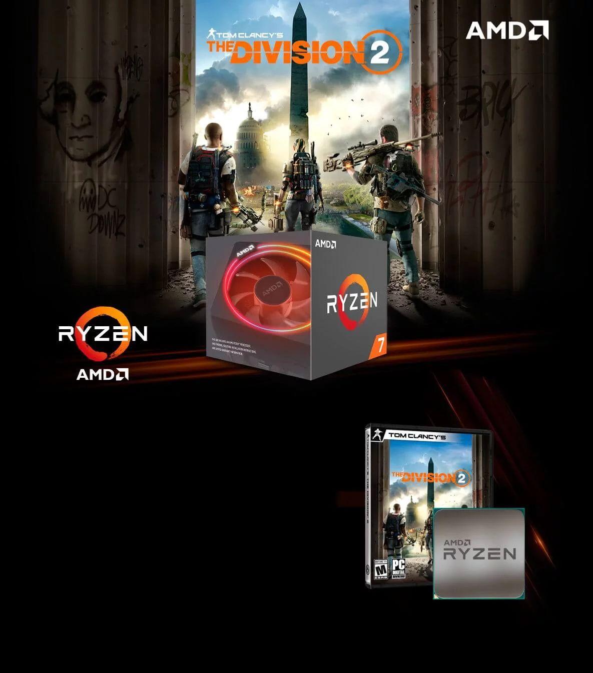 AMD Division 2 Bundle - Ryzen 5 i 7 z grą gratis