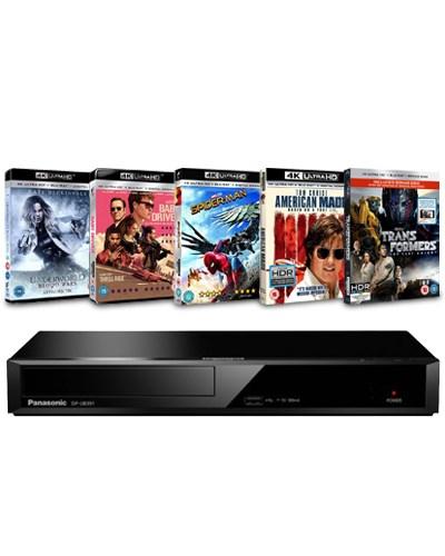Odtwarzacz Blu-ray 4K Panasonic model DP-UB391EB + Zestaw 5 Filmów 4K  564 zł  Zoom.co.uk