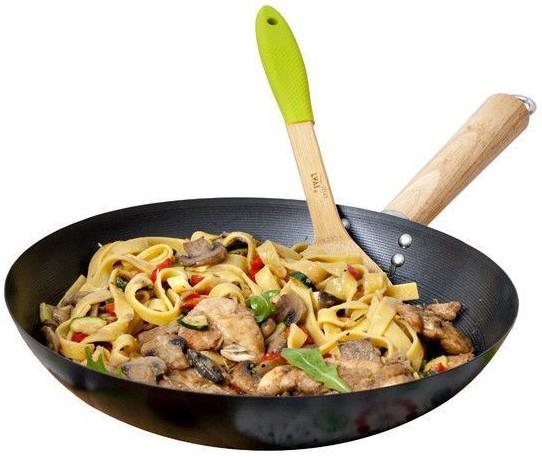 Patelnia WOK 28 cm AGATA na kuchnie indykcyjne m.in. do potraw azjatyckich