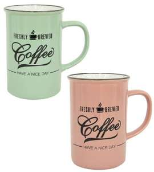Kubek porcelanowy COFFE 350 ml dwa fajne kolory - dla niej i dla niego AGATA