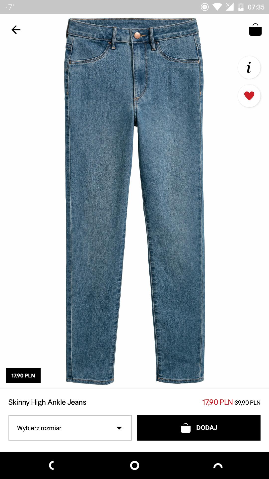 H&M tanie jeansy