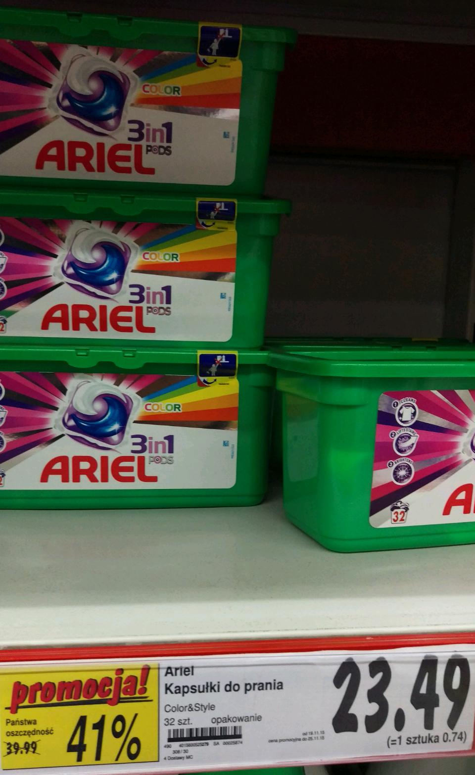 Kapsułki do prania ARIEL 32szt. @ Kaufland