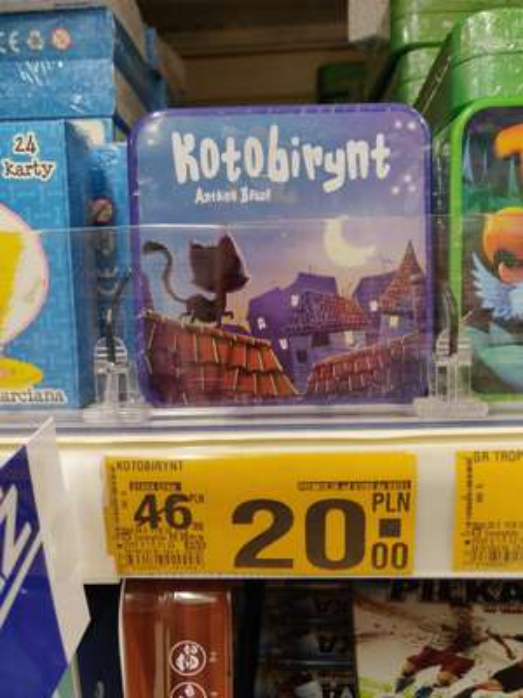 Gra kotobirynt w Auchan ch Galaxy Szczecin - w kasie pokazuje 10zl