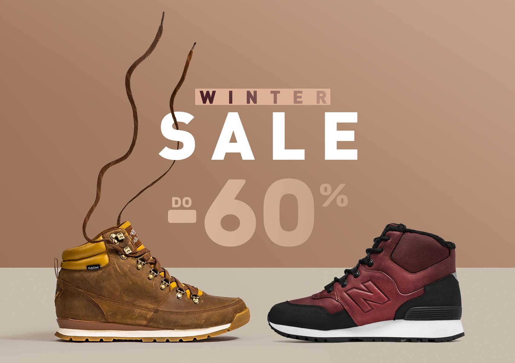 Wyprzedaż do -60% New Balance, adidas, Nike, Timberland, the north face i inne