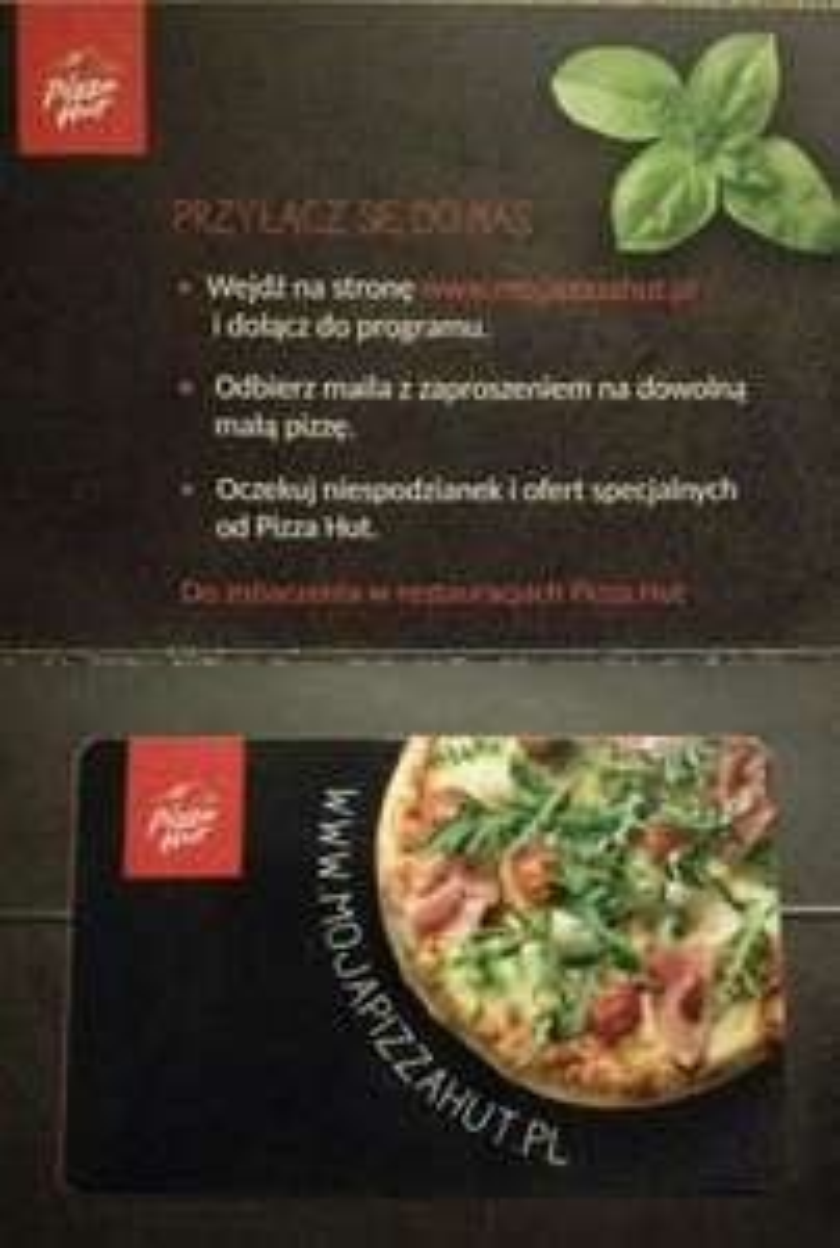 Darmowa, dowolna mała pizza w Pizza Hut