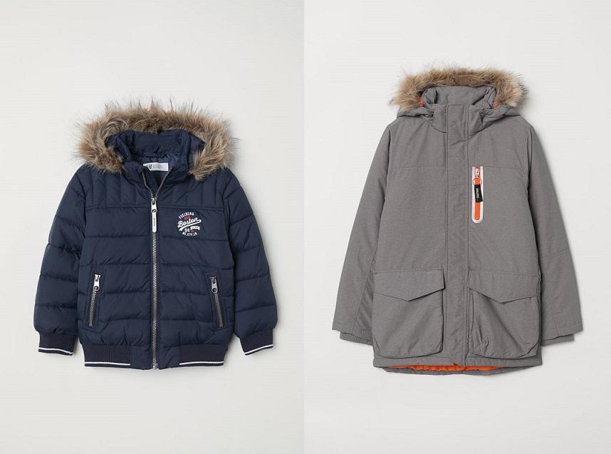 Chłopięce, watowane kurtki po 67,91zł (rozm.92-170) @ H&M